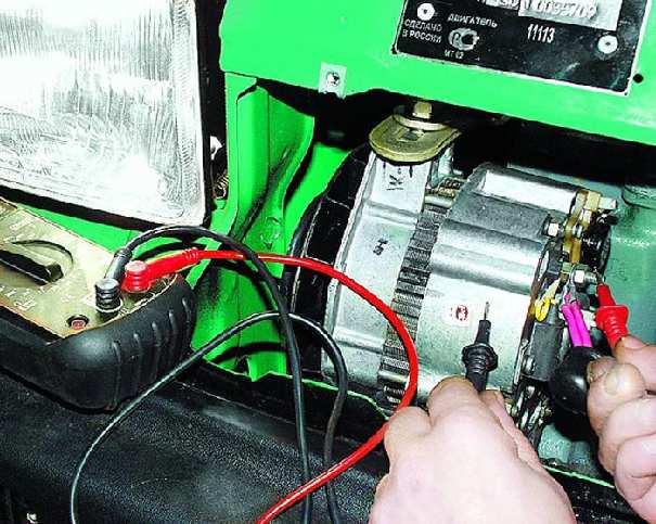 Проверка напряжения генератора