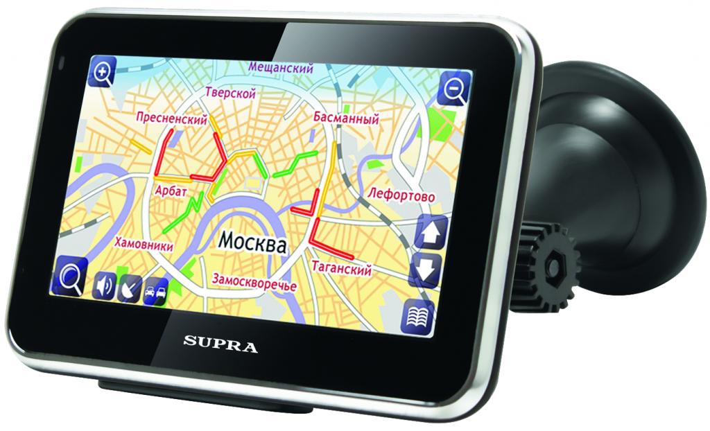 Отображение карты на навигаторе