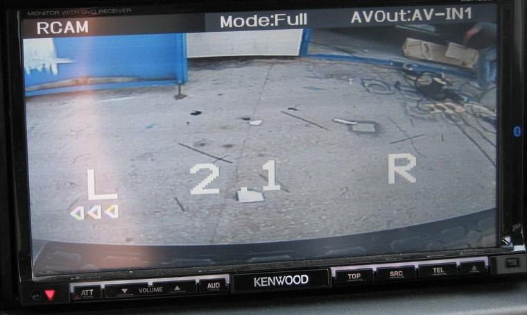 Определяемся с местом установки монитора парктроника