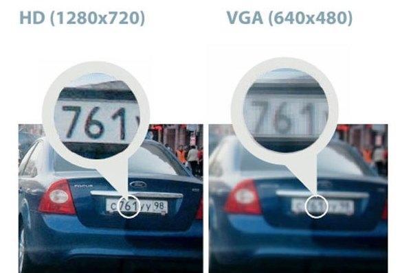 Наглядный пример того как влияет разрешение видеозаписи на общее качество картинки