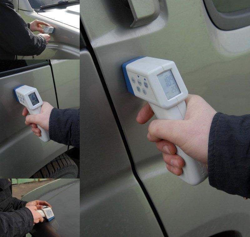 При осмотре часто используют устройство, которое позволяет определять был ли автомобиль повержден