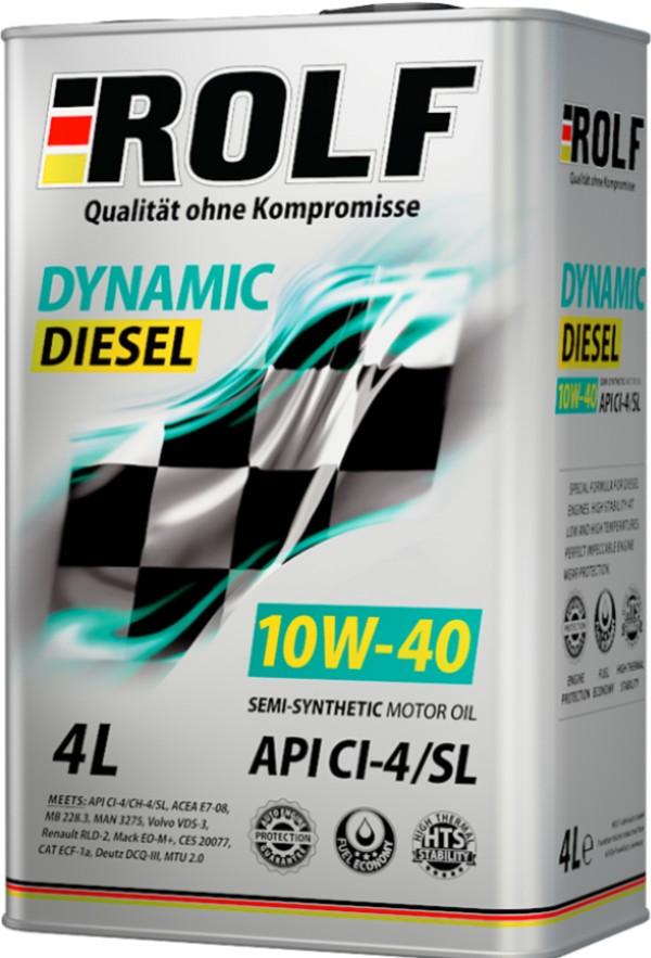 ROLF Dynamic Diesel 10W-40 CI-4/SL 4 л